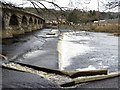 NY9464 : Weir below Hexham Bridge by Andrew Curtis