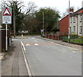 ST2894 : Warning sign - Humps for 550 yards, Cocker Avenue, Cwmbran by Jaggery