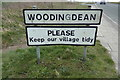 TQ3405 : Woodingdean Village Name sign on Warren Road by Adrian Cable