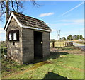 ST4496 : Stone bus shelter in Gaerllwyd, Monmouthshire by Jaggery