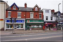 SE5613 : Shops on Market Place, Askern by Ian S