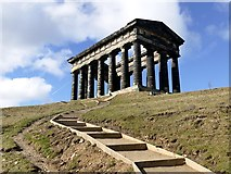 NZ3354 : Steps to the Penshaw Monument by Graham Hogg