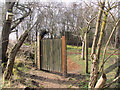 SP9314 : The New Gate into the Wildlife Garden at College Lake by Chris Reynolds