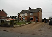 TL9790 : Houses on Watton Road, Larling by David Howard