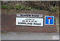 TQ3505 : Seaview Road sign by Adrian Cable
