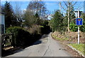 ST4299 : No Through Road sign at the eastern end of Chapel Road,  Llangwm, Monmouthshire by Jaggery