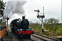 SP0838 : Dinmore Manor at Broadway on Opening Day by Philip Pankhurst