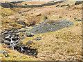 NY4009 : Mine spoil heap beside Kirkstone Beck by Trevor Littlewood