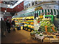 SP5106 : Greengrocer in the Covered Market by John M