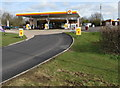 SO7806 : Shell filling station entrance, Eastington by Jaggery
