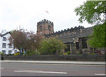 SJ8588 : St Mary's Parish Church, Cheadle by Eirian Evans
