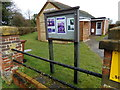 TL1419 : Perry Green Baptist Chapel Notice Board by Adrian Cable
