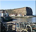 NZ7818 : Lobster pots at Staithes Harbour by Graham Hogg