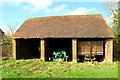 SP3190 : Barn at Lodge Farm, Astley, Warwickshire. by Hazel Clarke