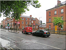 SK3436 : Derby: Friar Gate in the rain by John Sutton