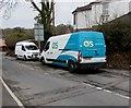 ST2894 : OCS van, Ton Road, Cwmbran by Jaggery