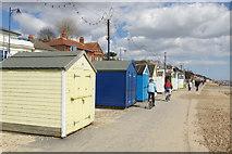 TM3034 : Beach huts at Felixstowe by Stephen McKay