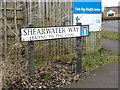 TM4977 : Shearwater Way sign by Adrian Cable