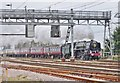 TQ5088 : 70013 Oliver Cromwell hauling the Cathedrals Express through Romford, Essex by Derek Voller