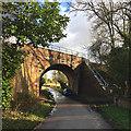 SP1869 : Dick's Lane nearing a railway bridge west of Turner's Green by Robin Stott