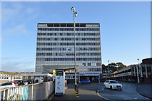 SX4755 : Inter-city House and Plymouth Station by N Chadwick