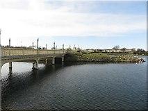 SD3317 : Bridge crossing Marine Lake, Southport by Graham Robson