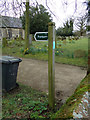 TM4978 : Footpath sign off the B1126 Wangford Road by Adrian Cable