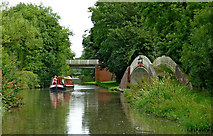SP4678 : Oxford Canal south of Easenhall in Warwickshire by Roger  Kidd