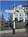 SJ8989 : Fingerpost in Wellington Road, Stockport (1) by John S Turner