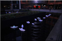 "TQ2681 : View of Steve Messam's ""Flotilla"" in the Paddington Basin by Robert Lamb"