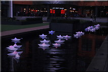 "TQ2681 : View of Steve Messam's ""Flotilla"" in the Paddington Basin #3 by Robert Lamb"