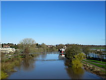 SO8455 : River Severn at Worcester Looking a Bit Full by Roy Hughes