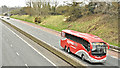 J2966 : Bus Eireann coach, M1, Ballyskeagh (April 2018) by Albert Bridge
