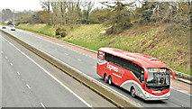 J2966 : Bus Eireann coach, M1, Ballyskeagh (April 2018) by Albert Bridge