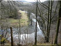 NY2824 : The River Greta from Brundholme Wood by Christine Johnstone