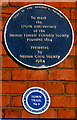 SJ2977 : Neston Female Friendly Society blue plaque by Jaggery
