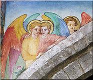 SK7288 : Mural, St Peter's church, Clayworth by Julian P Guffogg