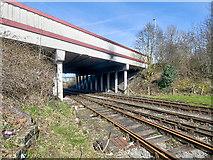 SD8010 : East Lancashire Railway, Peel Way Bridge by David Dixon