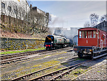 SD8010 : East Lancashire Railway at Castlecroft by David Dixon