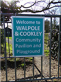 TM3674 : Walpole & Cookley Community Pavilion & Playground sign by Adrian Cable