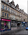 ST3188 : One of two St David's Hospice Care charity shops in High Street, Newport(B) by Jaggery