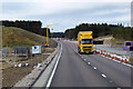 NH8509 : Roadworks on the A9 at Dalraddy by David Dixon