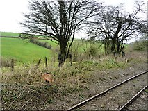 ST6442 : Stop sign, East Somerset Railway by Christine Johnstone
