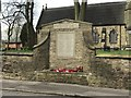 SJ8146 : WW2 war memorial outside St Luke's Silverdale by Jonathan Hutchins