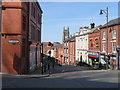 SJ8990 : Wellington Street/Lower Hillgate junction, Stockport by John S Turner