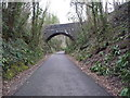 ST7563 : Bridge over former railway cutting, Two Tunnels Greenway by Christine Johnstone