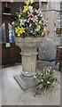 SK7699 : Font, St Nicholas' church, Haxey by Julian P Guffogg