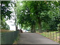 TQ2777 : The Thames Path between the river and Battersea Park by Eirian Evans