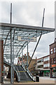 TQ2750 : Steps and canopy, High Street by Ian Capper