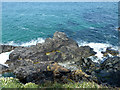 SW4841 : Rocks, west side of Pen Enys Point by Robin Webster